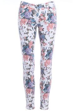 ROMWE | Floral Print Skinny Pants, The Latest Street Fashion #Romwe
