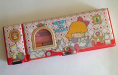 Vintage 1980s Heart to Heart pencil case by Kutsuwa, Japan
