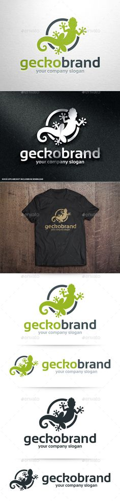 Gecko Brand Logo Template — Photoshop PSD #psd #animal • Available here → https://graphicriver.net/item/gecko-brand-logo-template/10963637?ref=pxcr