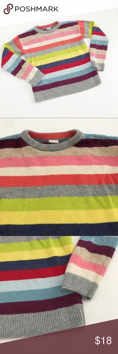 Baby Gap Multicolored striped sweater Gently used in very good condition. Size 5 but runs a little small so listed as size size 4 GAP Shirts & Tops Sweaters