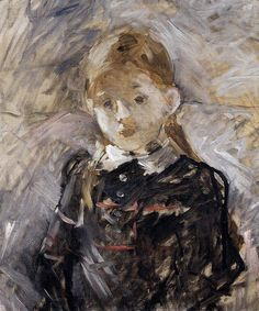 Little Girl with Blond Hair by morisot