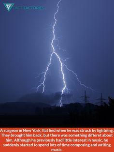 Stuck by lightning he found a hidden talent