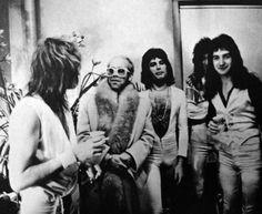 Elton John, Freddie Mercury, John Deacon and The Queen!