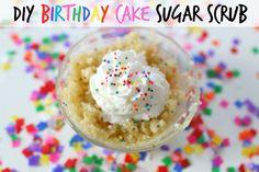 DIY birthday cake sugar scrub--this is the cutest diy I've seen!