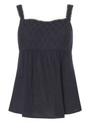 Navy Lace Strap Cami Top