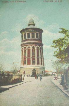 Bucuresti - Foisorul de foc - antebelica Bucharest Romania, Time Travel, Big Ben, Buildings, Europe, Landscape, Pictures, Romania, Scenery