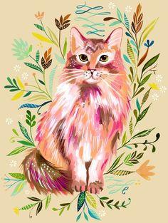 Cat Artwork by Katie Daisy (www.KatieDaisy.com)