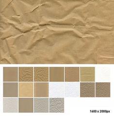 Texturas de papeles y cartones arrugados