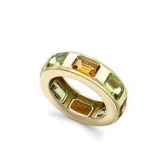 Citrine and Peridot Gold Ring