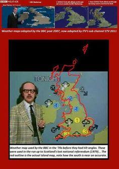 Scotland portrayed as a diminutive country to England