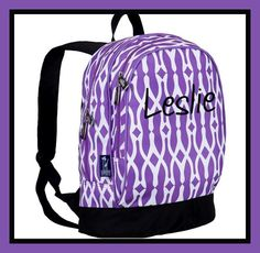 Personalized Backpack - Monogrammed - Wishbone by DesignsbyDaffy on Etsy