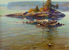 Brent Lynch - Zen Island, Saltspring (Field Study) - oil on board - 12 x 16