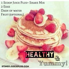 Yummy and healthy pancake recipe using Juice Plus+ complete shake mix!