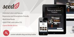 SeedV2 Responsive Email Template & Layout Builder by robbiewilliams  Unlimited colors and layouts with a layout builder access! Also included with html¡¯s for smooth start. You can also use it as a static one-web-page for your company. Provides a modern innovative flat design concept. It has been t