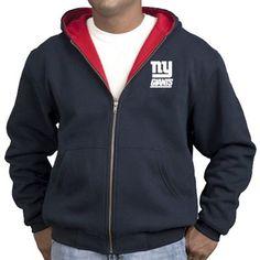 #fanatics New York Giants Navy Blue Craftsman Workman's Full Zip Hoodie Sweatshirt