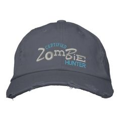 0492c4129bf Certified ZOMBIE Hunter Halloween Embroidery Hat. Family GiftsEmbroidered  HatsEmbroidered ...
