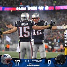 #Patriots lead 17-9 at halftime.