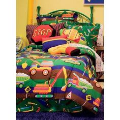 Boys Tractor Comforter Set Tyler Toy Chest Reversible Twin Bed In A Bag #Generic
