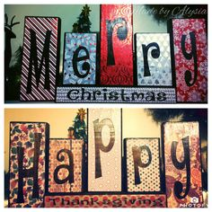 Reversible holiday blocks by ForeverandAlwaysOurs on Etsy