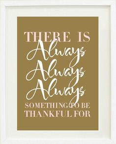 Thankful quote print poster