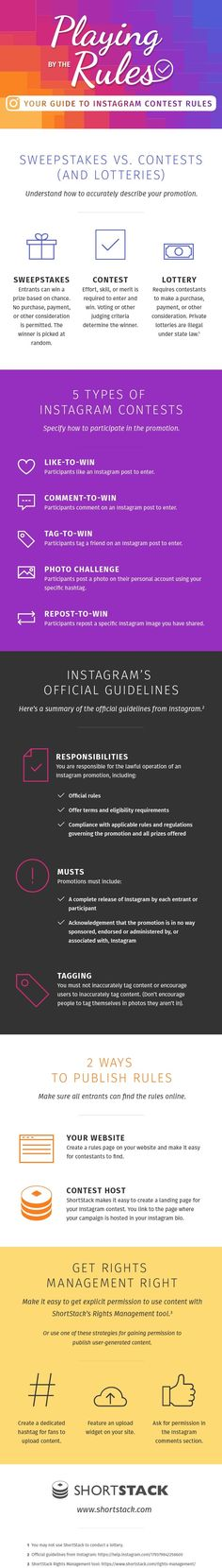 Why Instagram Contests Rule — And How to Play By the Rules - #Infographic