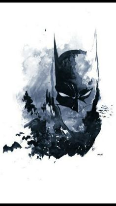 Batman watercolor