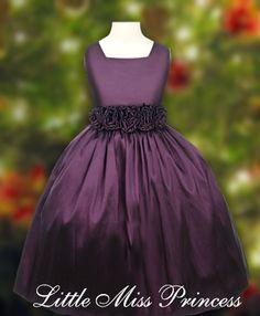 Trista Plum Flower Girl Dress: Purple Dresses for Girls