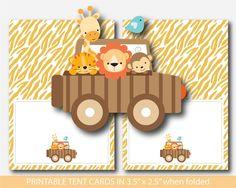 Zoo tent cards, Safari tent cards, Jungle tent cards, Lion place cards, Safari place cards, Jungle place cards, Safari buffet cards, Jungle buffet cards, BS6-10 Safari, Buffet, Food Tent, Tent Cards, Jungle Animals, Tiger, Cute Food, Kids Cards, Giraffe