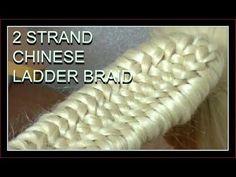 2 STRAND CHINESE LADDER BRAID _ HAIRSTYLE / HairGlamour Styles / Braids Hair Tutorial - YouTube