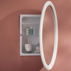 Dunhill Oval Recessed Medicine Cabinet - Classic White