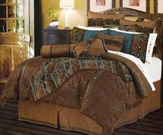 """(HXWS4006F) """"Del Rio"""" Western 5-Pc. Comforter Set Full #WesternDecor"""