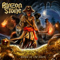 """The pirate metal horde returns! """"Down in the Dark"""" is the fourth full length release from Swedish power metal masters Blazon Stone. Metal On Metal, Power Metal, Heavy Metal, Metal Albums, Looking Up, Hard Rock, Album Covers, Pirates, The Darkest"""