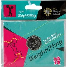 Price: $4.95 - Olympics The Royal Mint London 2012 Sports Collection Weightlifting 50p Coin - TO ORDER, CLICK ON PHOTO