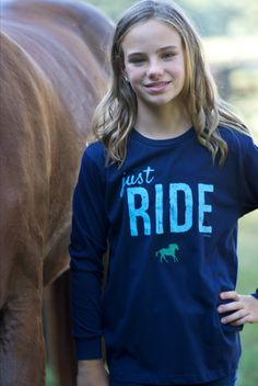Stirrups Youth Just Ride Long Sleeve Jersey Tee, just one of the great products from our large selection here at HorseLoverZ. The Stirrups Youth Just Ride Long Sleeve