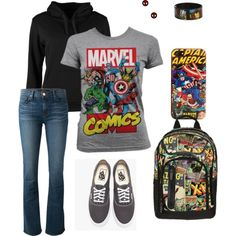 """Marvel"" by nachognat on Polyvore"