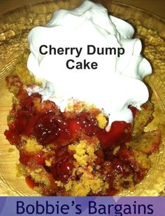 Bobbie's Bargains: Recipe ~ Slow Cooker Cherry Dump Cake