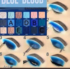 Techniques cheat sheets Double Tap if you 💙 this look 👀 Feeling Blue? Try out this pictorial that . Double Tap if you 💙 this look 👀 Feeling Blue? Try out this pictorial that I created using the Blue Blood Palette by the iconic… Jeffree Star Eyeshadow, Blue Eyeshadow Makeup, Blue Eyeshadow Looks, Blue Makeup Looks, Smokey Eye Makeup, Foil Eyeshadow, Yellow Eyeshadow, Eyeshadow Palette, Natural Eyeshadow
