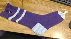 pattern by Lydia Gack Ravelry: Dainami's Hand Knit Machine Sock. pattern by Lydia Gack Always wanted to be able to knit, but unsure where to s. Knitting Socks, Hand Knitting, Knitting Machine, Seamless Socks, Socks And Heels, Pattern Library, Ravelry, Hands, Stitch