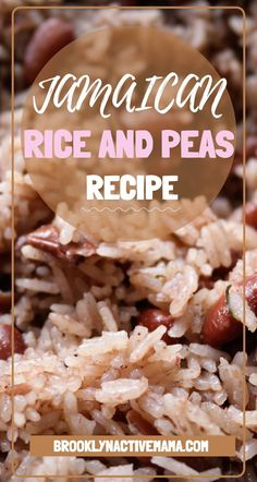 This amazing and authentic Jamaican Rice and Peas recipe uses allspice, coconut milk, thyme and more fresh ingredients for a wonderful experience that will make you feel like you are in Jamaica. Pea Recipes, Side Dish Recipes, Vegetarian Recipes, Cooking Recipes, Rice Recipes, Cooking Tips, Recipies, Jamaican Dishes, Jamaican Recipes