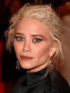 Contour + updo like Mary-Kate Olsen