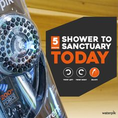 "The good news: It only takes 5 minutes to change your shower head. The bad news: It might not even qualify as a ""project."" Low Flow Shower Head, High Pressure Shower Head, Shower Cleaner, Bad News, Shower Heads, Benches, Bench, Rain Shower Heads"