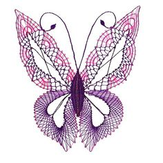 Bobbin Decoration - Butterfly / Goods of the seller Grandmother bobbin lace Fler. Needle Tatting, Needle Lace, Bobbin Lacemaking, Lace Art, Bobbin Lace Patterns, Butterfly Drawing, Lace Jewelry, Lace Making, Antique Lace