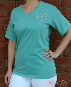 Plus Size Comfort Colors Unisex V-Neck Short Sleeve by PalmerTees