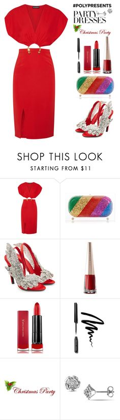 """#PolyPresents: Party Dresses"" by letiperez-reall ❤ liked on Polyvore featuring Haney, Sarah's Bag, Balenciaga, Max Factor, Bobbi Brown Cosmetics, contestentry, polyvoreeditorial, polyvorecontest and polyPresents"
