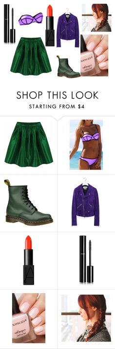 """""""Ariel IRL"""" by phantrashwhovian on Polyvore featuring WithChic, Dr. Martens, Loewe, NARS Cosmetics and Chanel"""