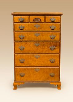 american country chippendale slant front tiger maple desk