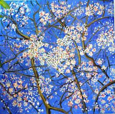 Image result for u.s artist blossom on  blue painting