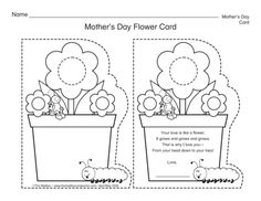 Mother's Day Flower Card, Lesson Plans - The Mailbox