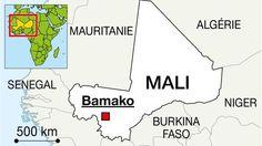 L'hôtel #Radisson Blu de #Bamako (#Mali) a été pris d'assaut vers 7h15, par un groupe de djihadistes. 170 #otages sont retenus par deux assaillants après une fusillade, selon l'AFP. Source carte © Ouest-France