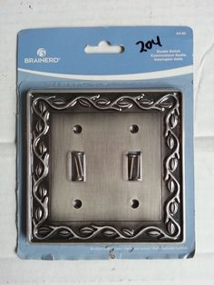 #collectible antique ebay estate Brainerd Double Toggle Wall plate Brushed Satin Pewter withing our EBAY store at  http://stores.ebay.com/esquirestore